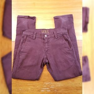 Levi's 511 Maroon Jeans 30x30